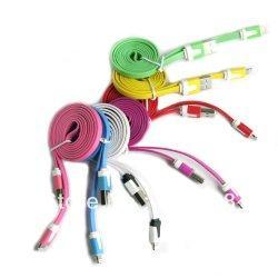 Noodle Sync Lightning Lade-Datenkabel, versch. Farben, versch. Längen
