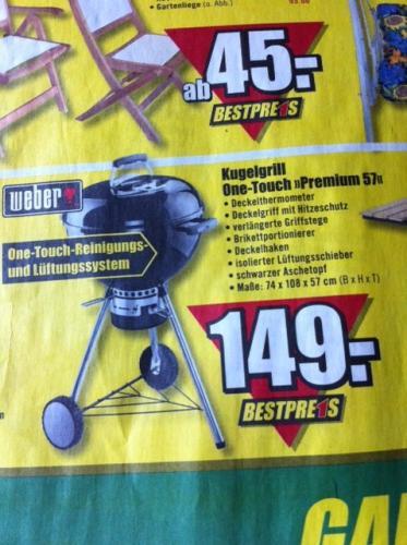 [offline] Weber Kugelgrill One-Touch Premium 57 für 149,-