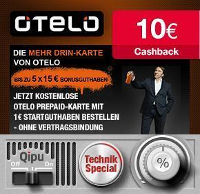 [Qipu] OTELO gratis SIM Karte mit 1€ Startguthaben + 10€ Cashback und bis zu 75€ geschenkt
