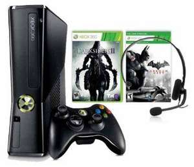 [Amazon] Xbox 360 Slim 250 GB + Darksiders 2 + Batman Arkham City + Headset 149€