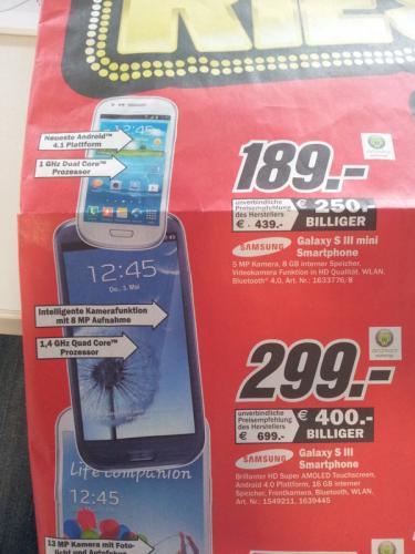 [Lokal] Galaxy S3 - 299 € @MediaMarkt Essen u.U überall?