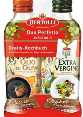 2x 500ml Bertolli Olivenöle inkl. gratis  Kochbuch ideal zum braten und für Salate !