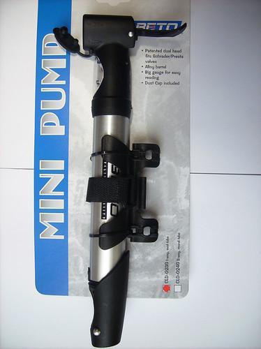 Mini Fahrradpumpe mit Manometer BETO CLD 023G