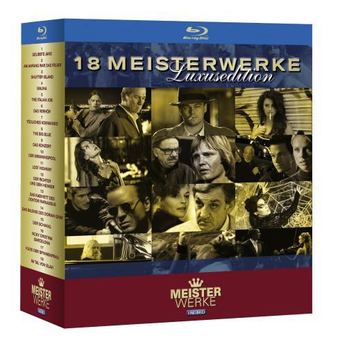 [Blu-ray] Meisterwerke in HD–Luxusedition (18 Filme) für 58.00 Euro inkl. Versand