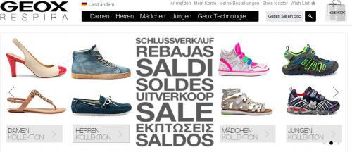 Schuhe bis zu 50 % reduziert bei GEOX
