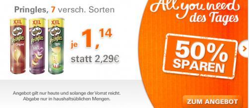 18x Pringles in verschiedenen Sorten für nur 20,52€ ( je Packung 1,14€) inkl. Versandkosten bei Allyouneed | teilweise mit Burger King Gutscheinen | 6EUR Gutschein ab 30EUR MBW