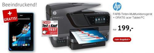 HP OJ Pro 8600 Plus + GRATIS acer ICONIA B1 Tablet @ Printus Gewerbe