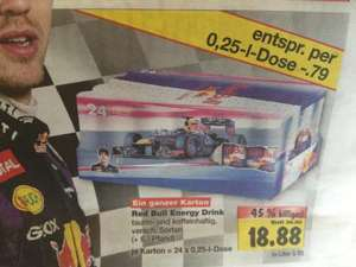 Red Bull 24x 0,25l Dosen Kaufland 18,88€ [Bundesweit]