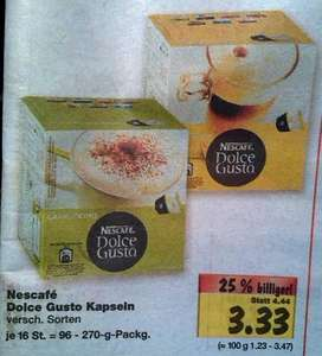 [lokal Kaufland Dortmund, ev. Umgebung?] Dolce Gusto Kapseln für 3.33 Euro