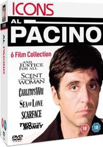 Al Pacino Collection: Scarface/Carlito's Way/Scent of a Woman/And Justice For All/Sea of Love/Two For the Money für 7€ [zavvi.com][6 DVDs]