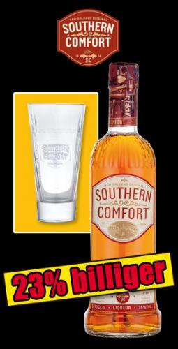 Norma: Southern Comfort inkl. Longdrinkglas für 12,99 Euro