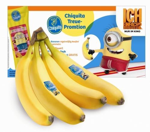 """Von 01.07.2013 - 31.08.2013 Chiquita Bananen im Wert von mindestens 10 oder 20€ kaufen und die DVD """"Ich - einfach unverbesserlich"""" bzw. eine Chiquita Luftmatratze erhalten"""