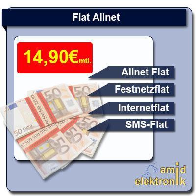 [SIM ONLY] Allnet flat, SMS-flat, 500 MB internetflat im O2-Netz  - 14,90 €  im Monat