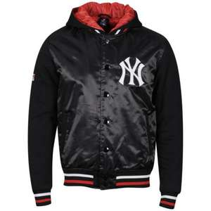 [thehut.com] Majestic Men's Yankees Esher Mixed Fabric Schwarz Jacke