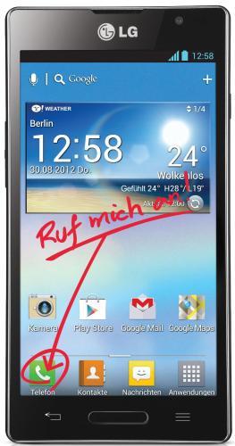 LG Optimus L9 schwarz für 169€ bei Mediamarkt Online