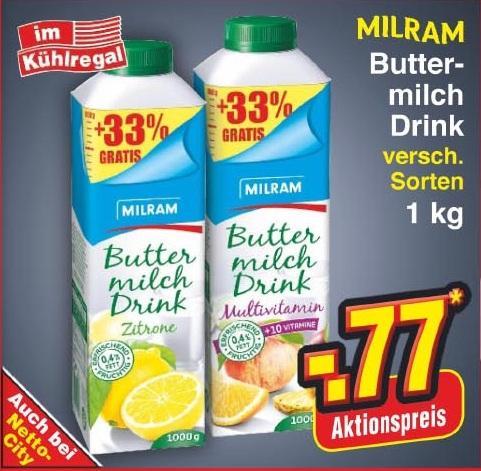 Milram ButtermilchDRINK 1kg - Netto