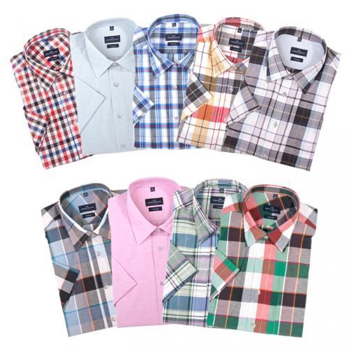 EBAY WOW x09 Lorenzo Calvino Milano Herrenhemd Halbarm 9 Farben