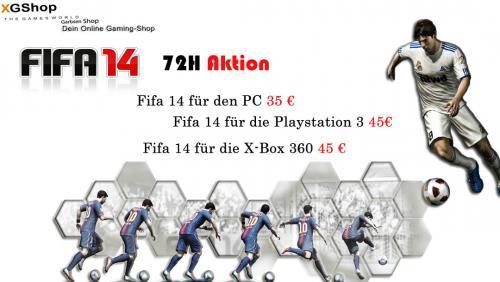 FIFA 14 vorbestellen für nur 35€ (PC) oder 45€ (Xbox 360/PS3) - Aktion vom 17.06 - 19.06.2013
