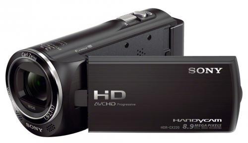 Sony HDR-CX220EB für 179 € - Full HD Camcorder mit 29,8mm Weitwinkel-Objektiv und 27-fach opt. Zoom