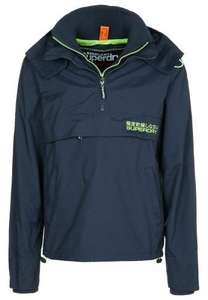 Superdry Regenjacke / wasserabweisende Jacke - nautical navy/fluro green