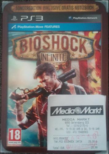 Bioshock Infinite [PS3/Xbox 360] [PEGI/deutsch] [lokal?] Mediamarkt Shoppingcity Seiersberg, Österreich