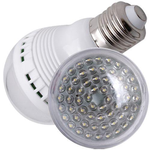 E27 Lampe mit 60 LEDs Weiß Birne für 3,89€ inkl. Versand @Ebay