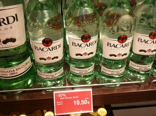 [Flughafen] Bacardi Superior 1 Liter für 10,50 Euro bei Heinemann Travel Value