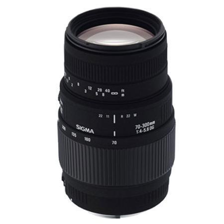 Sigma Tele-Objektiv mit Canon-Anschluss 70-300 / 4-5,6 DG Macro
