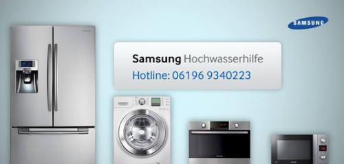 Samsung Hochwasserhilfe – Kostenfreier Tausch eurer Samsung Haushaltsgeräte und kostenlose Waschsalons