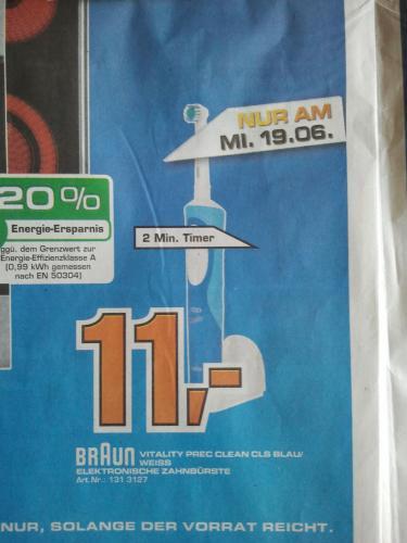 [Lokal] Oral-B Vitality Precision Clean für 11 Euro im Saturn Heidelberg