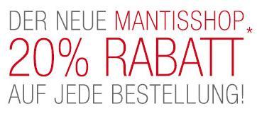 Mantis Lifestore Onlineshop Eröffnung -20% auf alles