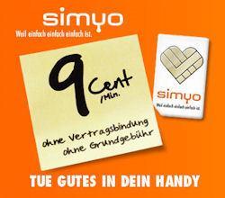 simyo Prepaid SIM Karte mit 5 € Guthaben