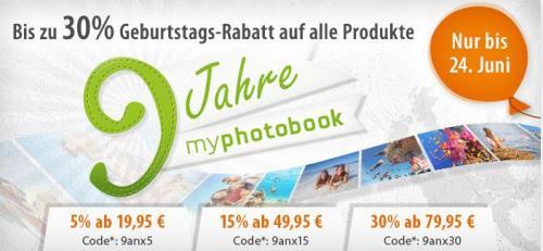 Bis zu 30% Rabatt bei myphotobook