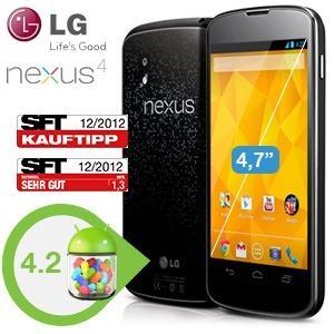 LG Nexus 4 16 GB @ Ibood.de für 305,90 EUR (+4 % qipu für Neukunden möglich)
