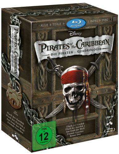 Fluch der Karibik -Die Piraten-Quadrologie (5 Blu-Rays) für 21,97 € @ Amazon