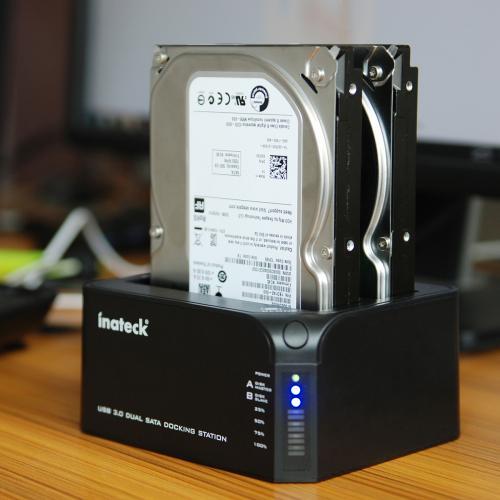 Inateck FDU3C-2 dual Ports USB 3.0 festplatten Dockingstation mit offline und online Klonfunktion EUR 36,99