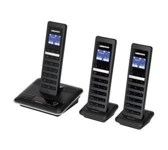 DECT Telefon MEDION® LIFE® S63050 (MD 82666) + 2 Mobilteile S63100