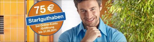 SpardaBank München - Konto mit 75 EURO Startguthaben bei Online Eröffnung