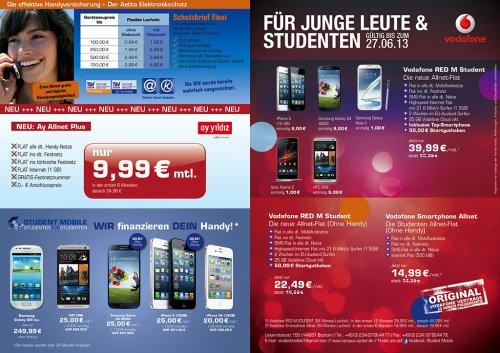 *lokal Bochum Uni Campus*  Vodafone Smartphone Allnet für rechnerisch 18,74€ mtl mit einer 360€ Auszahlung