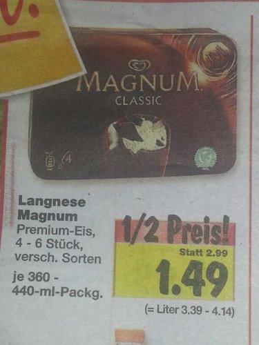Langnese Magnum 4-6 Stück für 1,49 Euro bei Kaufland (Duisburg evt. bundesweit )