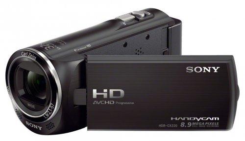 """Sony HDR-CX220 HD Flash Camcorder (1920 x 1080 (50p), 29,8mm Weitwinkel-Objektiv, 27-fach opt. Zoom, EXMOR R CMOS Sensor) in schwarz, rot oder silber für 149 Euro durch """"Cashback"""" als Amazon-Guthaben"""