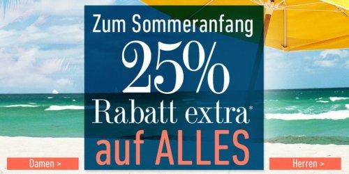 dress for less: 25 Prozent Rabatt extra auf alles bis morgen; geht in Kombi mit 10€ Newsletter-Gutschein