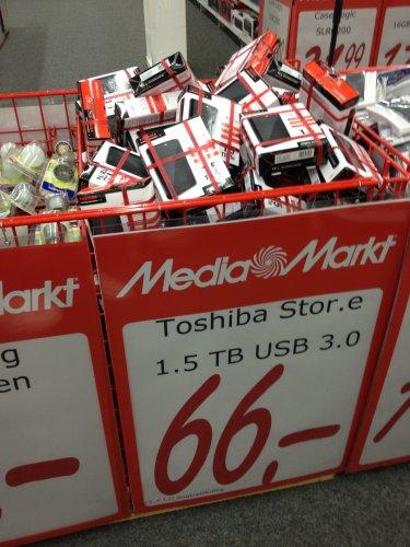 Lokal MediaMarkt Roermond Toshiba Stor.e Basics 1.5 TB USB 3.0 2,5 Zoll