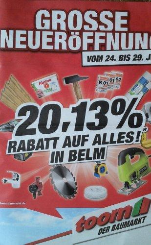 [Lokal Osnabrück] Toom 20,13 % auf alles...Neueröffnung
