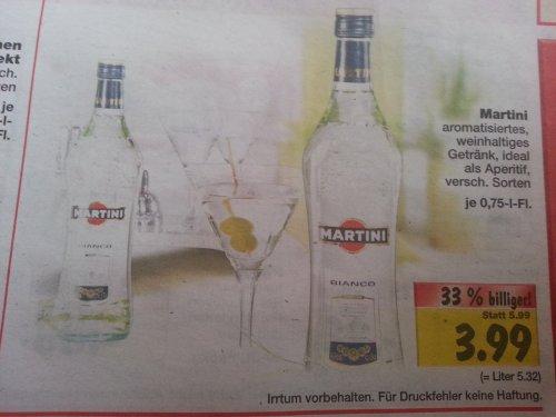 [Kaufland] Martini verschiedene Sorten 3.99 Euro