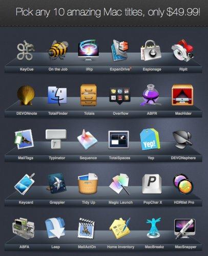 (MAC) Pick a Bundle 2.0 - 10 aus 30 Apps auswählen für lediglich 37,88€