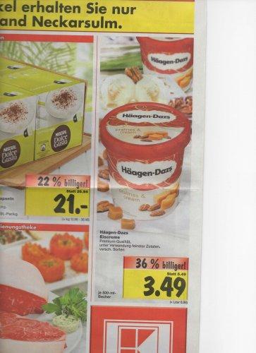 (Lokal Neckarsulm) 500 ml Häagen Dazs für 3,49 €