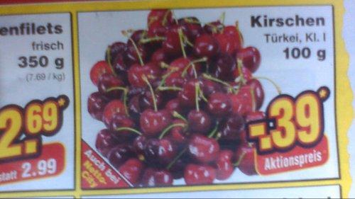 Kirschen für 3,90€ / Kg  bei Netto (ohne Hund)