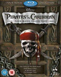 (UK) Fluch der Karibik - Pirates of the Caribbean 1-4 [5 x Blu-ray] für umgerechnet ca. 16,99 € @ Play (Zavvioutlet)
