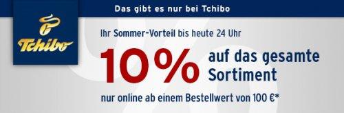 [Tchibo] 10% auf alles | nur heute | nur online | ab 100€ MBW | z.B. Artikel aus Garten & Grill SALE - ~40-60% Ersparnis
